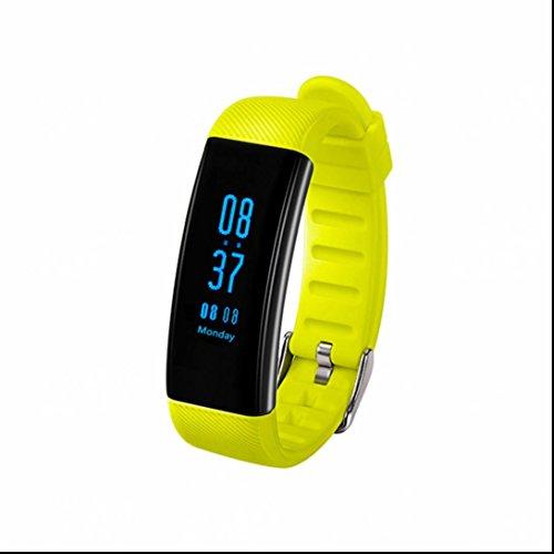 Smart Fitness Activity Tracker,Sport Armband Schrittzähler Touchscreen Smart Band mit Herzfrequenz / Schlafanalyse / Kalorienzähler / Aktivitäts Tracker Schrittzähler Sport Armbanduhr Push-Message und Anrufer für iPhone Samsung Smartphone