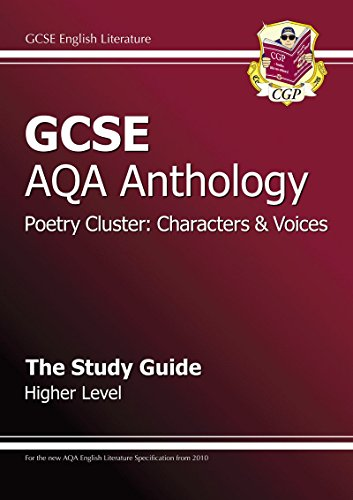 GCSE AQA Anthology Poetry Study Guide (Characters & Voices) Higher (A*-G Course) Cover Image