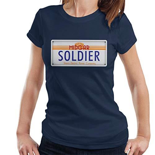 Cloud City 7 Final Fantasy Midgar Soldier License Plate Women's T-Shirt