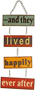 And They Lived Happily Ever After Retro Metal Hanging Sign