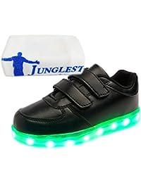 [Presente:pequeña toalla]Blanco - blanco EU 40, colores JUNGLEST® Zapatillas LED para LED zapatos carga luces manera zapatos zapatos moda mujeres de par Unisex hombres adult