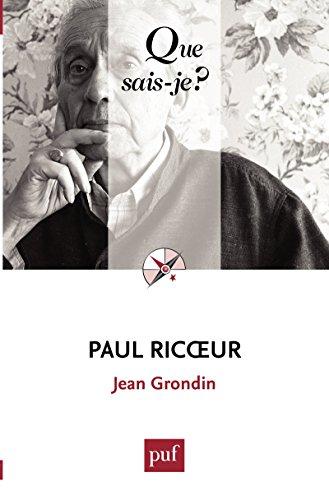 Paul Ricoeur: « Que sais-je ? » n° 3952