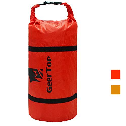 Geertop sacco di compressione tenda sacca da viaggio impermeabile regolabile ultraleggera 20d – per campeggio sport all'aperto (rosso, per 2 persona tenda)