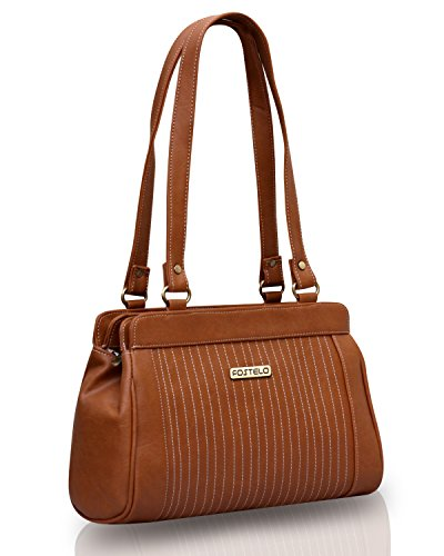 Fostelo Women\'s Handbag Tan (FSB-387)