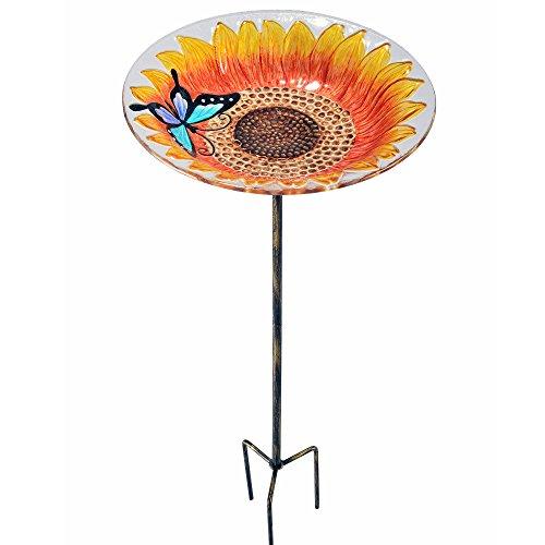 PeaktopGarten Terrasse Sonnenblume Glas Vogelfutterschale Freist. Tisch 2202581 (Glas Terrasse Tisch)