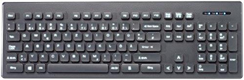 GeneralKeys Tastatur mit Beleuchtung: Beleuchtete Business-USB-Tastatur mit Nummernblock, QWERTZ (PC Tastatur beleuchtet) - Tasten, Tastatur Beleuchtete
