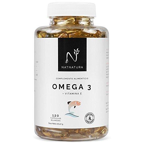 Omega 3+Vitamina E. Alta dosis de ácidos grasos Omega 3, 2000mg.Alta concentración...