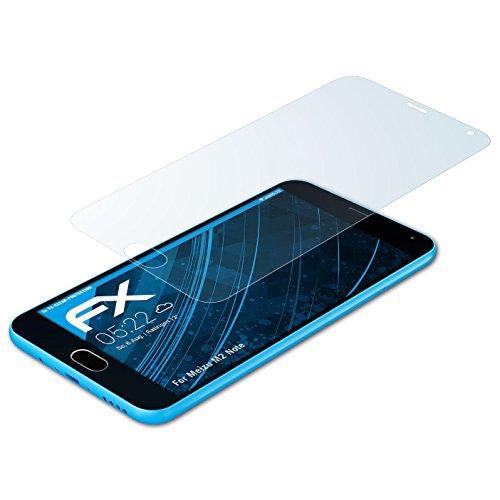 atFolix Schutzfolie kompatibel mit Meizu M2 Note Folie, ultraklare FX Bildschirmschutzfolie (3X)