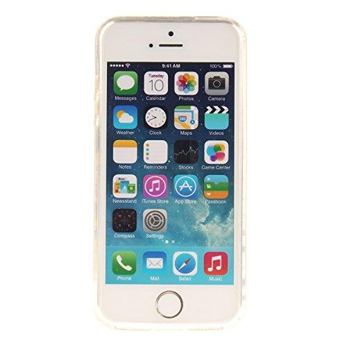 Ooboom® iPhone 5SE Coque Housse Transparent TPU Silicone Gel Étui Cover Case Ultra Mince Slim pour iPhone 5SE - Fleurs de Prunier Arbre
