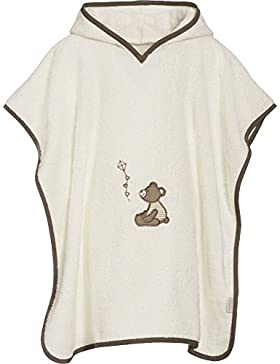 Playshoes Mädchen Bademantel Frottee-Poncho, Badeponcho Bär mit Kapuze
