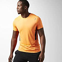 Reebok WOR Tech Top - Camiseta para Hombre, Color Naranja, Talla XS