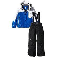 Peak Mountain Ecial - Conjunto de esquí para niño, traje, Niño, color negro/azul, tamaño 10