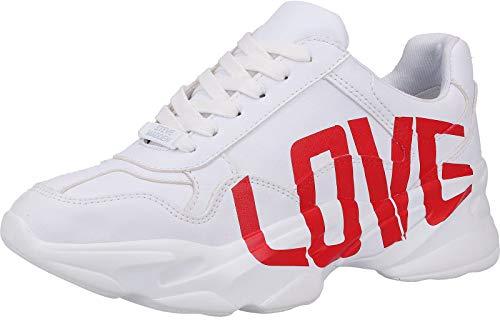 Steve Madden SM11000443 Damen Sneakers Weiß, EU 38