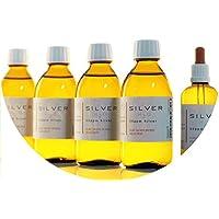 Preisvergleich für PureSilverH2O 1100ml Kolloidales Silber (4x 250ml/50ppm) + Pipettenflasche (100ml/50ppm) Reinheit & Qualität seit...