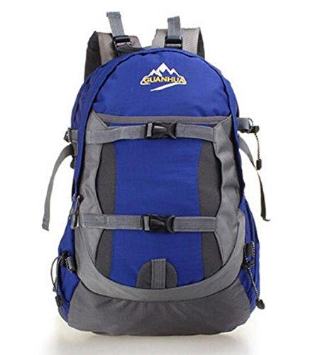 Zaino outdoor alpinismo borsa capiente zaino impermeabile sport stile tempo libero viaggio scuola,red Blue