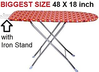 S4D Extra Large/Wide 122 x 47 cm (48 x 18 inch) Folding Ironing Board/Iron Table