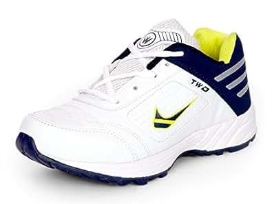Touchwood Men's Shot White/Blue Sports Running Shoe-7 IND/UK