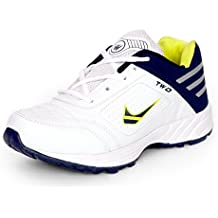 Touchwood Shot White Sports Shoes for Men (Size: 6-12 IND/UK)