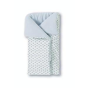 Pirulos 39213320 – Saco arrullo, diseño pirate, algodón, 50 x 82 cm, color blanco y gris
