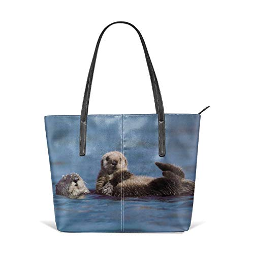9a357a1cf169 PecoStar Tote Bag für Frauen, Otters stylische Reisetasche Messenger Bag  Damen Einkaufstasche Falttasche