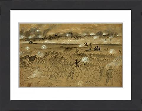 Framed Print of Genl. Humphreys charging at the head of his division after sunset of the 13th