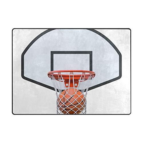 MONTOJ Basketball Score Schuhe Schaber Fußmatte im Bereich Teppiche Super Weiche Wohnzimmer Schlafzimmer Home Dekoration Teppich Fußmatte 404717HC, Polyester, 1, 63 x 48 inch