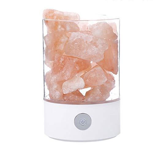 LL-Enyoyy Neue Himalaya-Kristallsalz-Lampe, Schlafzimmer-Nachttischlampe, romantische dekorative Atmosphäre-Tischlampe,White