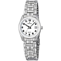 Festina F8826/4 - Reloj analógico de cuarzo para mujer con correa de acero inoxidable, color plateado