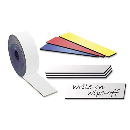 Magnetband/Kennzeichnungsband farbig, beschreibbar/abwischbar, Breite 50mm - 5m Rolle - Zum Beschriften und Markieren, von Lager, Werkstatt, für Whiteboards, Flipcharts, Präsentationen, Farbe:weiss