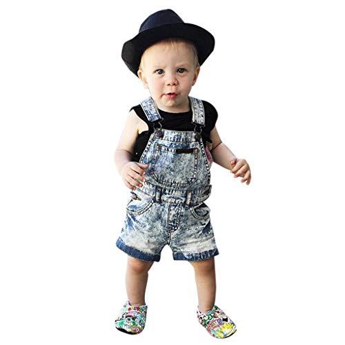 Knowin-baby body Ärmellose Denim-Trägerhose für Kinder Kinder Kleinkind Kind Baby Mädchen Hosenträger Denim Hosen Kleidung Klassischer Overall