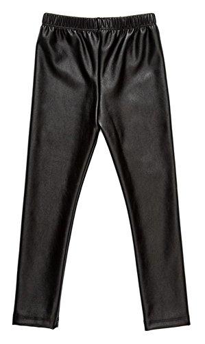 Messy código Kids bebé niñas pantalones Leggings para niña bebé oro pantalones Negro negro XXX-Large(5-6 Años)