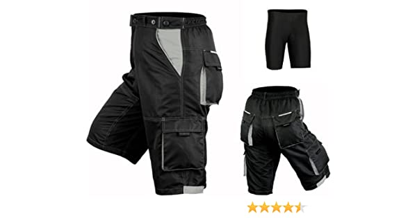 Lycra Padded MTB Cycling Shorts Thermal Mountain Biking Off Road Men Cycle