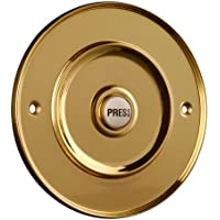 Polished Brass 100mm Dia Bell Push with China Press preiswert