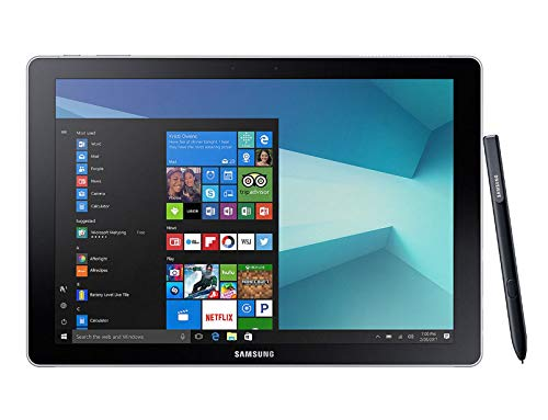 Galaxy Book - 12-Zoll-FullHD-Tablet (30,5 cm) + (WLAN + 4G, Intel Core i5-7200U, 4 GB RAM, 256 GB Speicher, Windows 10 Pro), schwarz