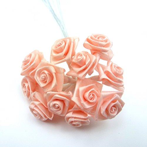 rougecaramel - Accessoires cheveux - Petit bouquet fleurs 12 tiges mariage cérémonie - saumon
