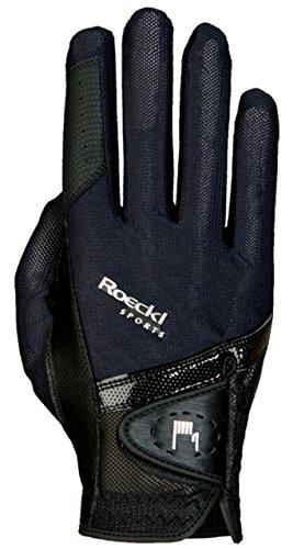 Roeckl Sports Handschuh Madrid, Unisex Reithandschuh, Schwarz, Größe 9