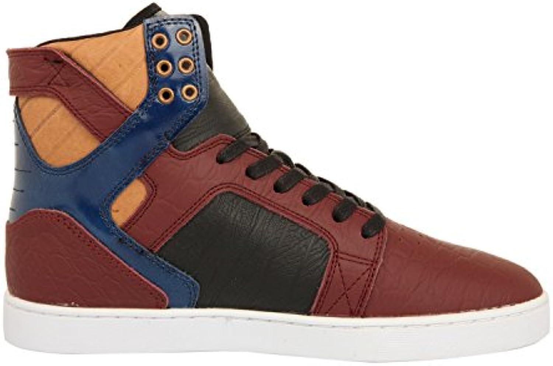 Supra Skytop LX Burgundy/Navy White Herren Sneaker 45.5 EUR/11.5 US
