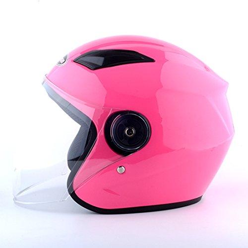 Lidauto Motorrad Helm Schutzkappe Sommer Elektro Fahrrad Unisex,Pink