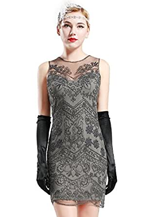 babeyond robe gatsby femme costume gatsby robe flapper 1920 femme robe soir e paillette gatsby. Black Bedroom Furniture Sets. Home Design Ideas