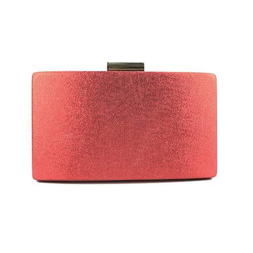 Normallack-Umhängetaschen, formale Abendtaschen der neuen Art- und Weisedame Bags Women's Geldbörsen Crossbody-Schulter, Handtaschen für Frauen, Hochzeits-Abschlussball-Partei-Kupplungs-Geldbörsen,red