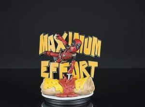Quantum Mechanix- Figura QFIG Marvel Deadpool Maximum Effort, Multicolor (MVL-0027)