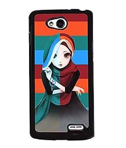 Fuson Pattern Girl Back Case Cover for LG L90 - D3679