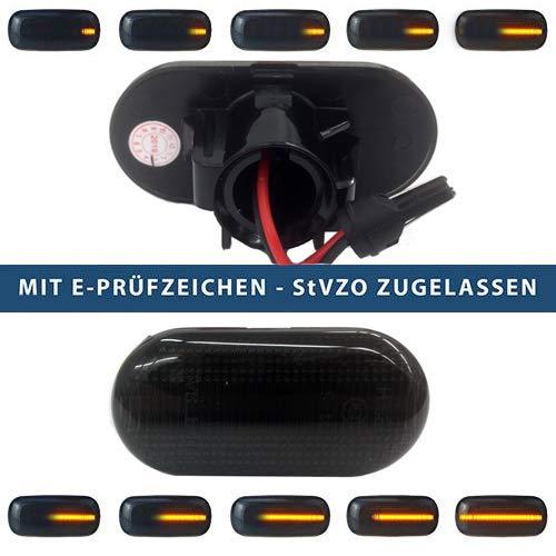 LED dynamische LED Seitenblinker Laufblinker mit E-Prüfzeichen (LED Seitenlaufblinker, getönt) CLIO -
