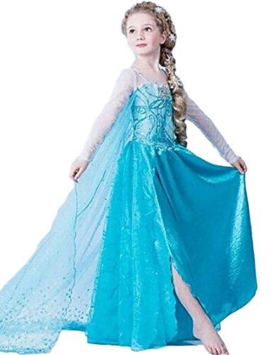 königin Eiskönigin Prinzessin Cosplay Fasching Kostüm Tutu Kleid 3-8 Jahre Alt (100, XX-Blau) (2 3 Jahre Alt Kostüme)