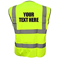 Custom Printed High Visibility Childrens Hi Vis Viz Vest Safety Waistcoat All Colours & Sizes