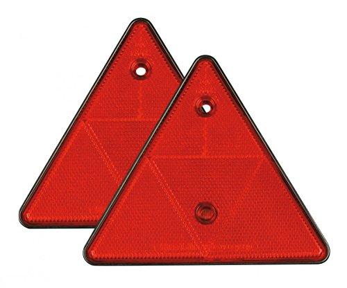 Refelctante triangular rojo 160mm 2Pzas - ACCESORIOS COCHE -