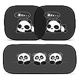 ANKOUJA Tendine Parasole Auto Bambini Nere Pandas - Parasole Bambini Accessori Auto, Tende da Sole per Esterno, Protezione Solare Raggi UV (100x50cm)