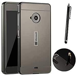 coque miroir aluminium m tal pour microsoft lumia 535 en noir high tech. Black Bedroom Furniture Sets. Home Design Ideas