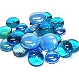 Hobby Island Mosaics - Piedras redondas (cristal), color turquesa