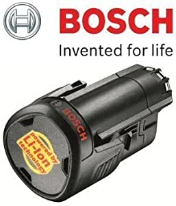 Bosch 1600Z0003K 2607336909 Batterie authentique pour taille-haies Bosch AHS 35-15 Li et AHS 45-15 Li, ponceuse Bosch PSM 10,8-Li et outil multifonctions PMF 10,8
